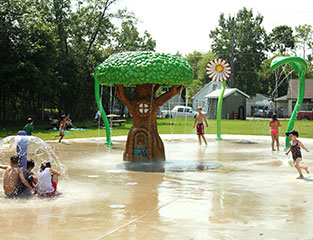 Campgrounds & Splash Pads